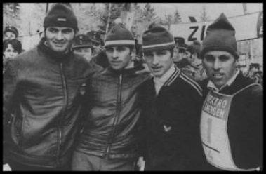 Edgar Eckert (2. von links), Deutscher Staffelmeister 1971